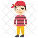 Cartoon Pirate Boy Icon