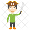 Pirate Boy Funny Icon