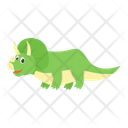 Cartoon Saurischian Dinosaur Icon