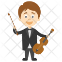 Violinist Boy Violin Icon