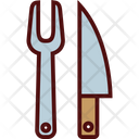Carving Fork and Knife Icon