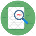 Find User Case Study Study Analysis Icon