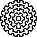 Casette Cogs Gears Icon
