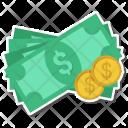 Cash Coins Dollar Icon