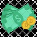 Cash Coins Bitcoin Icon