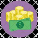 Cash Dollar Bills Icon