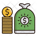 Cash Money Bag Icon