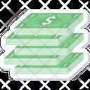 Cash Icon in Sticker Style