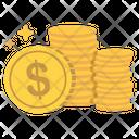 Cash Coins Earn Icon