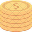 Cash Coins Stack Icon