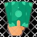 Cash Money Hand Icon