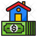 Cash Home House Icon