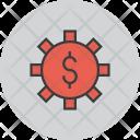 Cash Settings Banking Icon