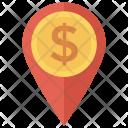 Cash Money Location Icon