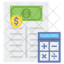 Cash Accounting Financial Calculation Accounting Calculation Icon