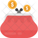 Pouch Cash Dollars Icon