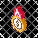 Cash Burning Bankruptcy Icon