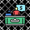 Supermarket Cashier Color Icon
