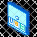 Cash Drawer Isometric Icon