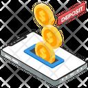 Cash Deposit Online Deposit Coin Deposit Icon