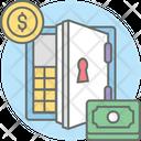 Cash Deposit Safe Box Locker Icon