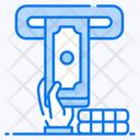 Cash Deposit Atm Automated Teller Machine Icon