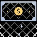 Cash Down Money Deduction Money Hacking Icon