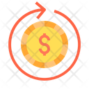 Circulating Money Dollar Cash Flow Money Flow Icon