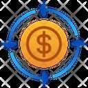 Cash Flow Money Arrow Icon