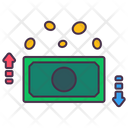 Cash Coins Up Icon