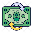 Cash Flow Transaction Money Icon