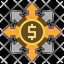Cash Flow Liability Dollar Icon