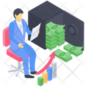 Cash Flow Money Flow Money Graph Icon