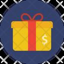 Cash Gift Cash Gift Box Cash Parcel Icon