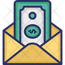 Cash in envelope Icon