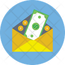 Cash In Envelope Icon