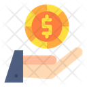Cash In Hand Payment Hand Giving Money Icon