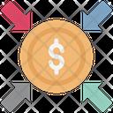 Dollar Arrows Direction Financial Concept Icon