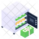 Cash Locker Safe Box Money Vault Icon