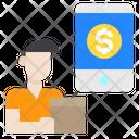Delivery Avatar Smartphone Icon