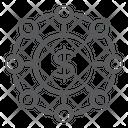 Money Network Dollar Network Financial Network Icon