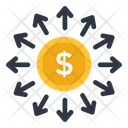 Cash Outflow Money Outflow Capital Outflow Icon