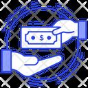 Cash Payment Cash Receive Cash On Delivery Icon