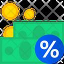 Cash Percentage Icon