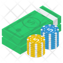 Cash Poker Chips Icon