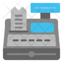 Cash Register Cash Till Invoice Machine Icon