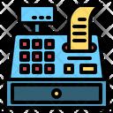 Cash Register Invoice Machine Cashier Icon