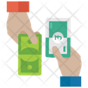 Cash Transaction Cash Exchange Money Conversion Icon