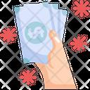 Cash Virus Transmission Icon