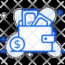Cash Wallet Purse Billfold Wallet Icon